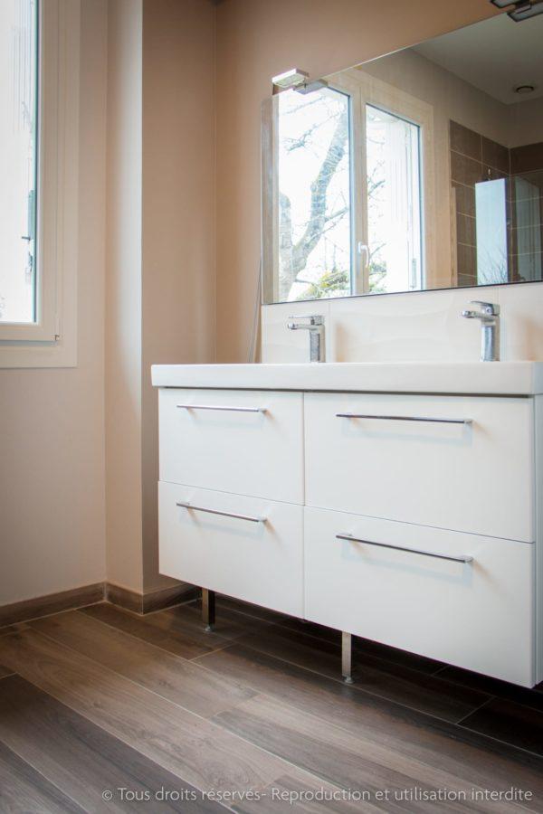 transformation double vasque salle d'eau