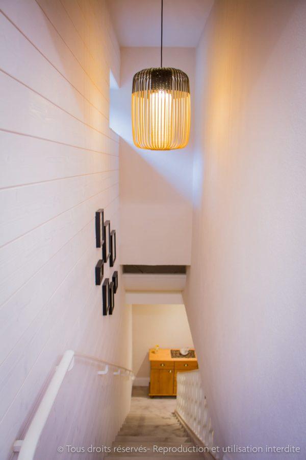 rénovation d'un couloir sombre maison