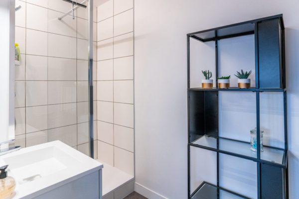 salle de bain appartement étudiant