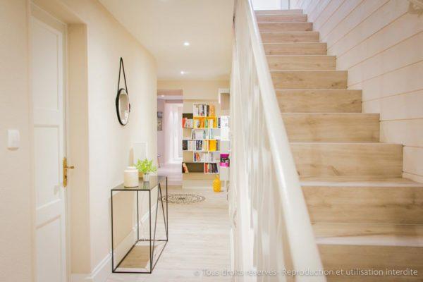 aménagement escalier lumineux architecture