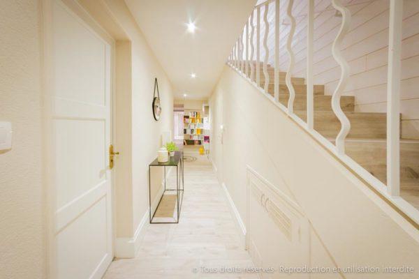 couloir lumineux rénové