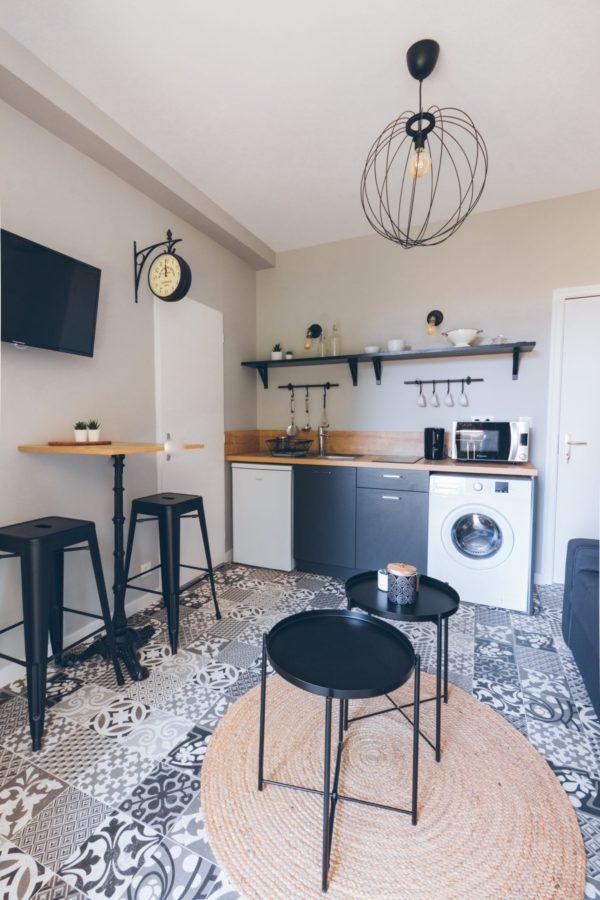 cuisine rénovée studio cocooning